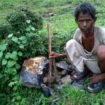 A typical miner and his tools